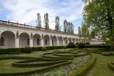 protected gardens in Kromeriz, Czech republic Stock Photo