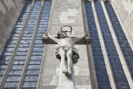 olomouc: Jesus on cross in Olomouc, Czech republic