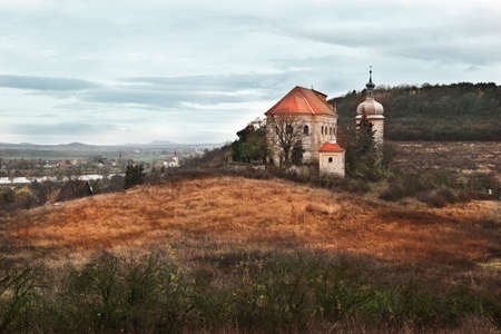 Autumn in Czech Countryside with church Stock Photo - 24236301