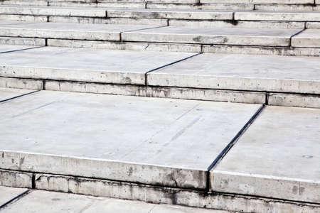 Closeup of modern concrete stairs photo