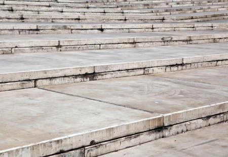 Closeup of concrete stairs photo