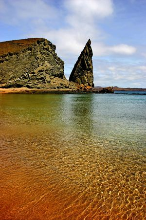 pinnacle: Pinnacle Rock nelle isole Galapagos.
