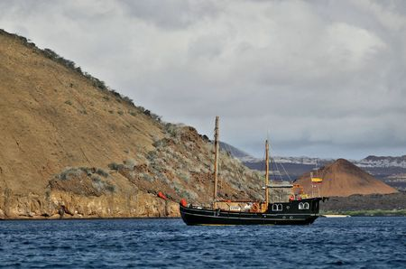 Boat in the Galapagos Islands.