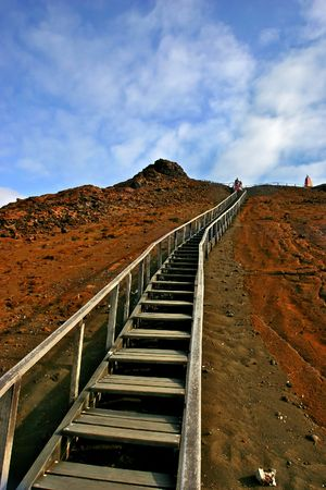 Long Stairs in the Galapagos Islands. Stock Photo