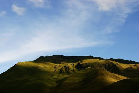 Small mountain in the Andes. Stock Photo