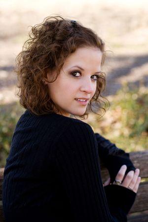 Closeup portrait of a beautiful young woman smiling.