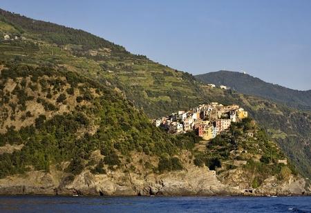 Cinque Terre, Italy. Corniglia village.  Stock Photo