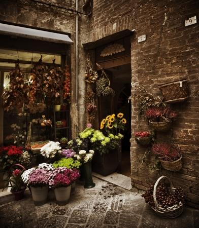 イタリア、トスカーナのフラワー ショップ 写真素材
