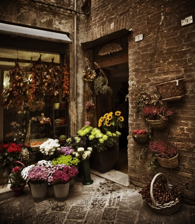 Toscan Flower Shop, Italie Banque d'images