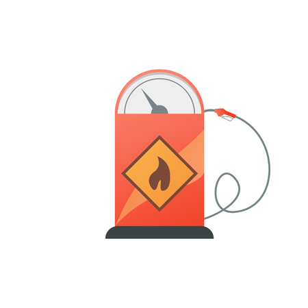 filling station: Gas station pump with fuel nozzle. Vector illustration