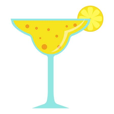 Cocktail icon. Flat illustration of cocktail vector icon for web