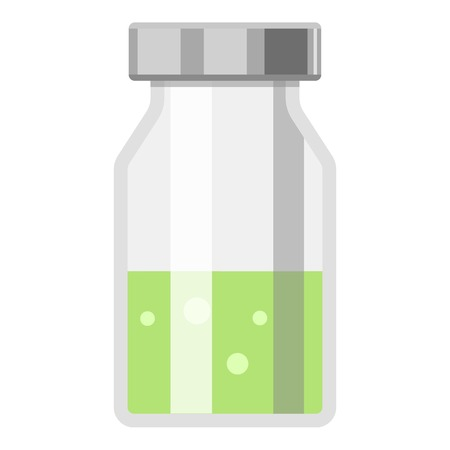 Vial icon, flat style