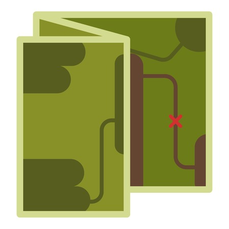 Map icon. Flat illustration of map vector icon for web Stock Illustratie