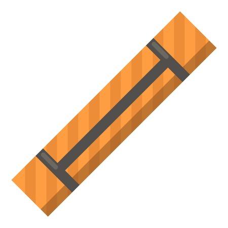 Yoga mat icon. Flat illustration of yoga mat vector icon for web Stock Illustratie