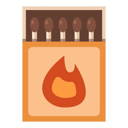 Matchbox icon. Flat illustration of matchbox vector icon for web Çizim