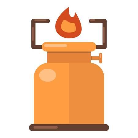 Kerosene lamp icon. Flat illustration of kerosene lamp vector icon for web