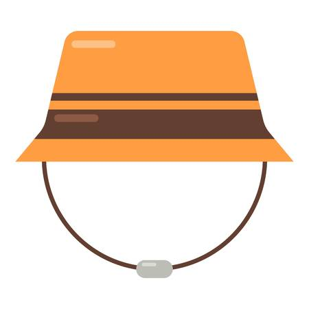Bucket hat icon. Flat illustration of bucket hat vector icon for web