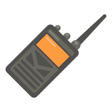 Portable radio icon. Flat illustration of portable radio vector icon for web