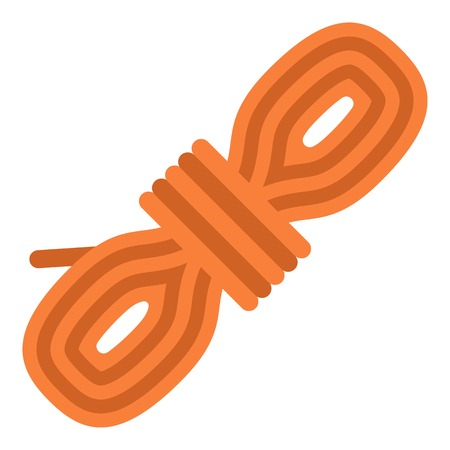 Rope coil icon. Flat illustration of rope coil vector icon for web Stock Illustratie