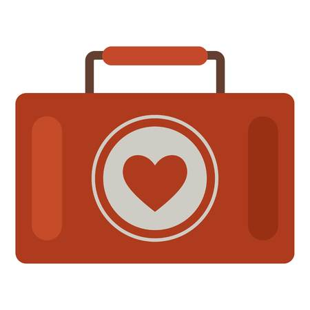 First aid kit icon. Flat illustration of first aid kit vector icon for web