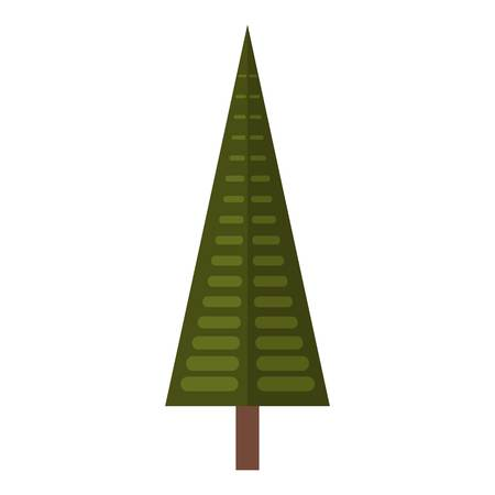 Spruce tree icon. Flat illustration of spruce tree vector icon for web