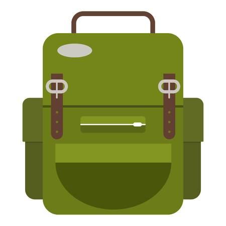 Travel backpack icon. Flat illustration of travel backpack icon for web Stock Illustratie