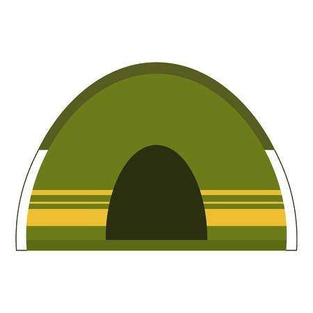 Camping tent icon. Flat illustration of camping tent icon for web Çizim