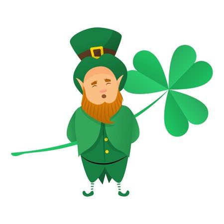 Leprechaun icon, cartoon style vector illustration Stock Illustratie