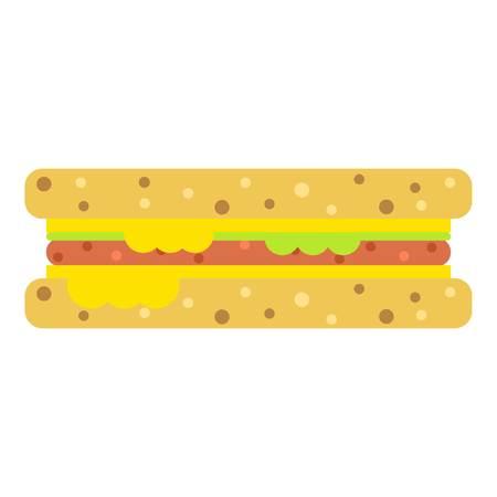 Sandwich icon, flat style.
