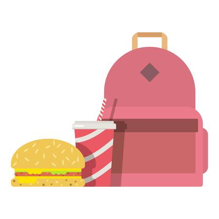 Lunch box children icon, flat style.