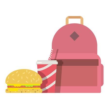 Lunch box children icon, flat style.