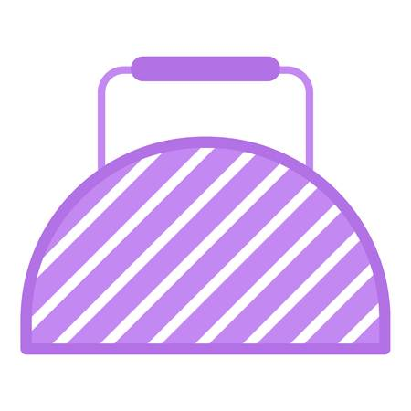 Fitness bag icon, flat style.