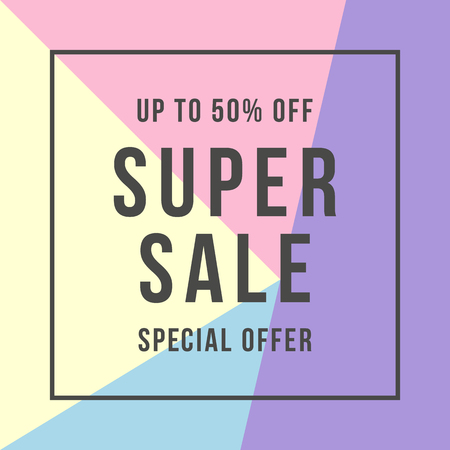 Special offer super sale, flat style Stock Illustratie