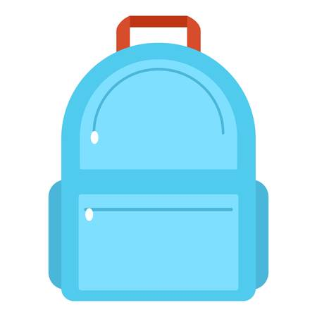 Backpack icon, flat style