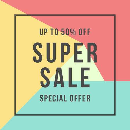 Special offer super sale, flat style.