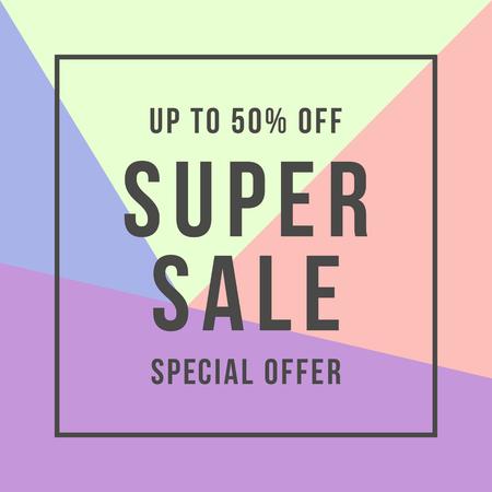 Super Sale offer super sale, flat style illustration.