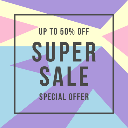 Special offer super sale, flat style Çizim