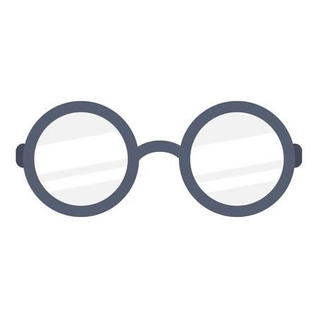 Glasses icon, flat style