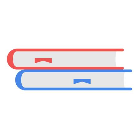 Books icon in flat style