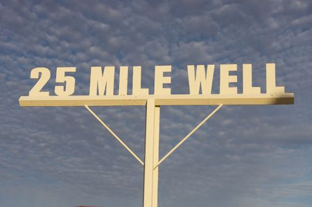 mile: 25 mile well Stock Photo