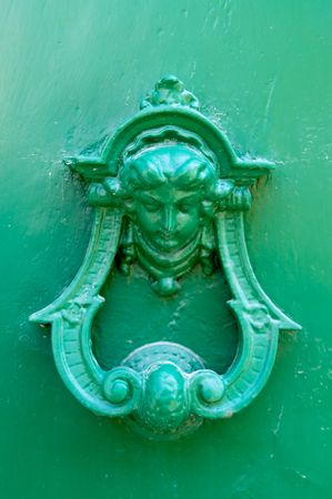 Detail of a  door handle in Tuscany