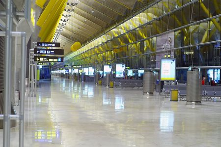 The new futuristic terminal of madrid Stock Photo