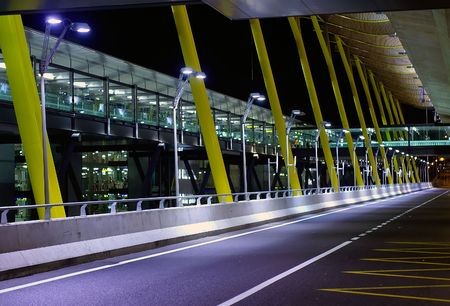 A view outside the new terminal of Madrid Barajas Stock Photo