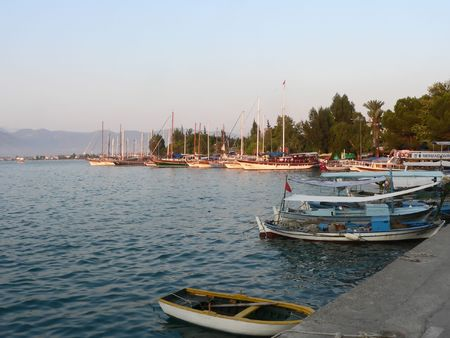 An image of relax and peace in fetiye, turklish coast