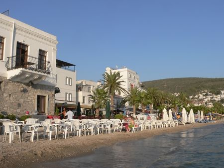 Image of summer life in Bodrum, Turkey Stock Photo