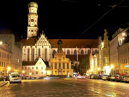 Augsburg, night shot