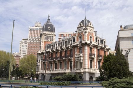 A view of a beautiful palace in Madrid Stock Photo - 482962