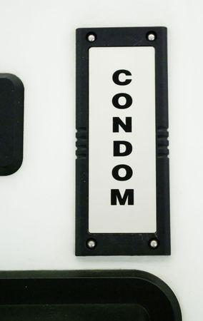 condones: m�quina de venta de los condones Foto de archivo
