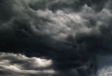 Breathtakink gray clouds. Stock Photo