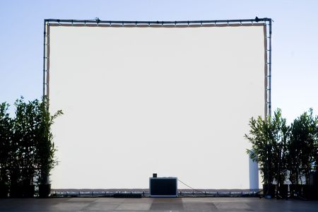 White background on a stage at open air Stock Photo - 1298572